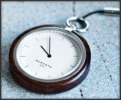 Memento Pocket Watches. Really dig this modern interpretation on such a classic style.