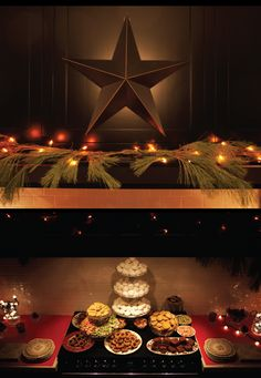 Christmas-Cookies-displayed-under-the-mantle-in-the-kitchen