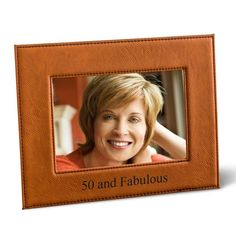 Leatherette Rawhide Picture Frame