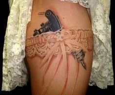 Lace Garter  Tattoo Gun Tattoo tattoos-i-like