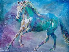 """Shannon Ford - """" Sky Horse """" Painted Horses, Wassily Kandinsky, Environment Painting, Art Gallery, Horse Artwork, Animal Paintings, Horse Paintings, Ouvrages D'art, Horse Drawings"""