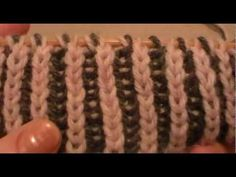 Double Brioche stitch shown by Larisa Chilton and Larisa also shows two cast on methods for this stitch.