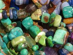 Goobers of hand made Stone Beads: http://manitoubeads.com/