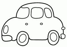 Araba boyama sayfası