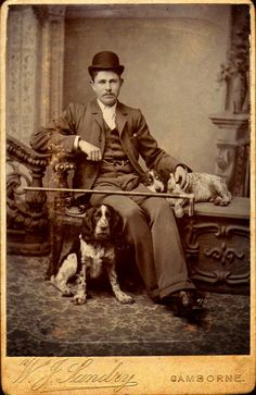 Vintage Doggy: The Man with The Springer Spaniels