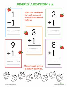Worksheets: Preschool Addition #2