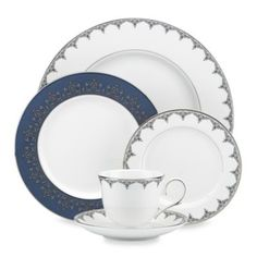 Lenox® Jeweled Saree Platinum Dinnerware Collection - This is really pretty too...
