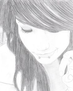 I love the drawing but ill probably not make it emo..I might even put a little more color in it