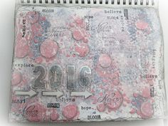 Welcome 2016 - an Art journal page - #ColorofTheYearArt