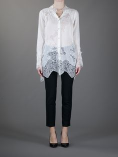 Free Shipping Pay With Visa Black oversize blouse with lace Ermanno Scervino Ost Release Dates Free Shipping Amazon Qd5YM7v9E
