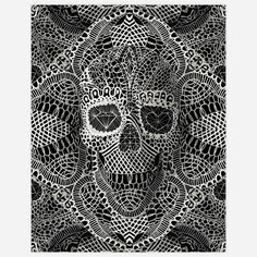 ali gulec laced skull print. i am obsessed with skulls. my elderly aunt is appalled and has me continually in her prayers.