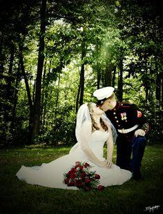 Military wedding. <3