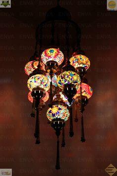 Multicolor Turkish Morrocan Hanging Lamp Light Hand Craft 11 Medium Globe