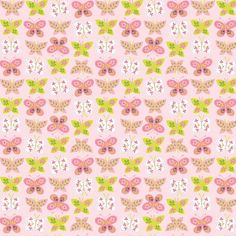 Animal Parade Butterflies Pink by Ana Davis