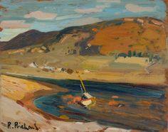 Rene Richard - La Malbaie x 12 Oil on board Canadian Painters, Oil, Board, Painting, Painting Art, Paintings, Paint, Draw, Sign