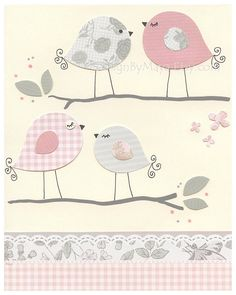 Love Birds For Nursery Room Nursery Love Birds by DesignByMaya, $17.00 https://www.etsy.com/shop/DesignByMaya baby nursery#baby room art#baby room art#nursery wall art