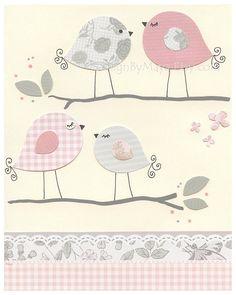 Bird Nursery Room Decor: Nursery Love Birds Decor by DesignByMaya