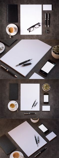 Four Stationery Mock up Templates » Free Special GFX Posts Vectors AEP Projects PSD Web Templates | HeroGFX.com