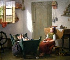 Unknown (French or Belgian) -     Inexperienced Baby Sitter,     1860