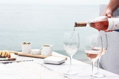 Rose pour at a St. Barth beach barbecue   Gather