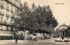 La paisible place Lachambeaudie et l'Eglise Notre-Dame-de-la-Nativité de Bercy, vers 1905. Il est amusant de constater qu'on compte plus d'animaux que d'humains sur cette photo...  (Paris 12ème)