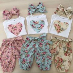 New baby onesies ideas sew ideas Fashion Kids, Baby Girl Fashion, Womens Fashion, Cute Baby Clothes, Doll Clothes, Sewing Baby Clothes, Baby Sewing Projects, Little Girl Dresses, Baby Dresses