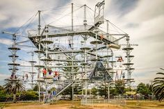 #adelaideadventureaustraliacoastparkseasidesouth australia #tjholder (December 6 2015 at 01:56AM) This unique structure in South Australia is the first of its kind in Australia and is like no other in the world.  The main feature is SkyMate a 26-metre-high structure with 50 aerial crossings  scramble nets rope bridges beams swings log steps aerial surfboards and even Adelaide wine barrel steps!  For those feeling less adventurous  they can enjoy uninterrupted and breathtaking views across…
