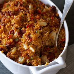 Chesapeake Bay Sausage and Crab Stuffing Recipe - Country Living  I don't eat stuffing, but I may try this!