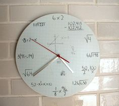 Mathematics clock by allisonn