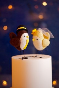 Such a cute cake topper!!  For when my beautiful sister Tarah (T-Bird) gets married :)
