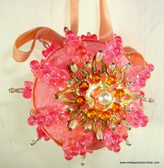 Beautiful Vintage Pink Christmas Ornament by VintageTinsel on Etsy