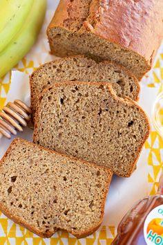 Honey Whole Wheat Banana Bread via @nataliemd// #banana #bread #baking #fresh