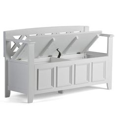 WYNDENHALL Halifax SOLID WOOD 48 inch Wide Transitional Entryway Storage Bench - 48 Inches wide - On Sale - Overstock - 7326885 Entryway Bench Storage, Bench With Storage, Storage Spaces, Traditional Benches, Thing 1, Storage Compartments, White Bedding, Solid Wood, Solid Pine
