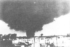 FLINT--BEECHER, Michigan, June 8, 1953, F5 tornado. 1953 was a particularly bad year for tornadoes, with five F5 rated twisters and lesser-rated ones yielding comparable damage and fatalities. Even worse than Waco's of that year was this Michigan monster that took 116 lives--one of the ten worst twisters in U.S. history. 113 were killed alone in Beecher with homes wiped clean off the map. (KevinR@Ky)