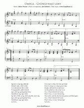 Gyöngyhajú lány (The girl with pearly hair) | Easy Piano Sheet Music