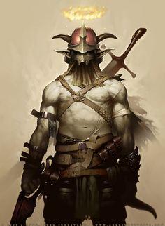 Demonic Warrior  by ~JayAxer