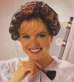 Hair nets and curlers. I had many misfortunes in trying to untangle a hair net from a curler. AND many sleepless nights, from trying to sleep on them! My Childhood Memories, Great Memories, Flower Power, Photo Vintage, Vintage Mom, Vintage Holiday, Baby Boomer, Hair Nets, I Remember When