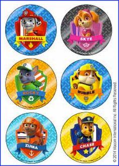 Paw Patrol Stickers Envelope Seals Favours Reward by eMTeeJays