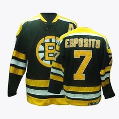 8c867398237 Men's CCM Boston Bruins #7 Phil Esposito Premier Black Throwback NHL Jersey  [L0006032]