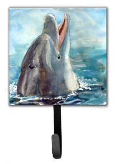 Dolphin Leash Holder and Wall Hook