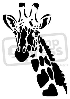 Stencil Animal, Stencil Art, Giraffe Drawing, Giraffe Art, Giraffe Head, Animal Silhouette, Silhouette Art, Silhouette Portrait, Stencil Templates