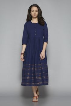 e910bbb67a6f6 Buy Bombay Paisley by Westside Navy Dress for Women Online   Tata CLiQ