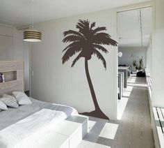Palm Tree Nursery Wall Decal  Beach Baby Room  by 3rdAveShore, $75.00