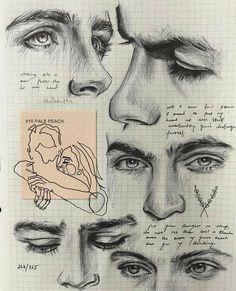 Pencil Art Drawings, Art Drawings Sketches, Realistic Drawings, Inspiration Art, Art Inspo, Drawing Tips, Painting & Drawing, Makeup Drawing, Drawing Ideas