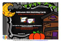 Lively Languages mini-matching cards are a interactive and communicative alternative to 'traditional' drilling activities, and really do help to create a lively language learning environment.  This Halloween-themed set features 99 high-frequency verbs in French & English in the infinitive form, perfect for pair work and just right for vocabulary-building, reinforcing and refreshing, as well as reading, speaking and pronunciation practice.