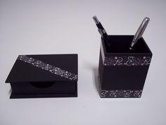 porta lapis mdf ou kit escritorio