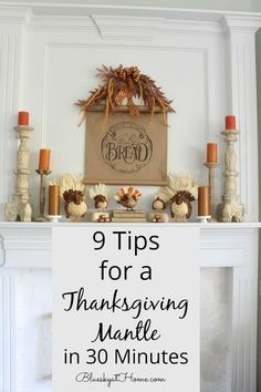 9 Tips for a Thanksgiving Mantle in 30 Minutes. Timeless ideas for helping you design a mantle for Thanksgiving and the holiday seasons. Take you through the process of creating a Thanksgiving mantle. Thanksgiving Mantle, Thanksgiving Tablescapes, Thanksgiving Recipes, Metal Pumpkins, Cute Crafts, Decorating On A Budget, Home Decor Styles, Halloween Decorations, Candle Holders