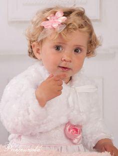 (ST-50) Zartes Stirnband in Rosa! - Princessmoda - Alles für Taufe Kommunion und festliche Anlässe
