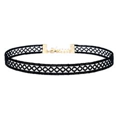 Tricycle Race Black Lace Choker Necklace found on Polyvore featuring jewelry, necklaces, accessories, chokers, collares, black, choker collar necklace, collar choker, lace choker and lace jewelry