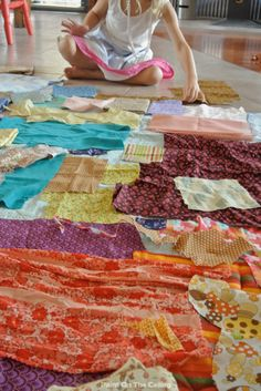 Invitation to Play With Fabric Scraps!